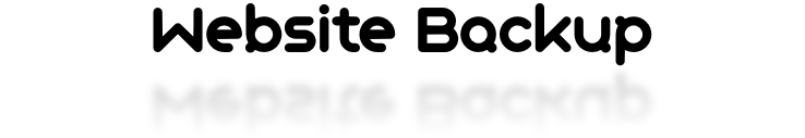Website Backup Banner